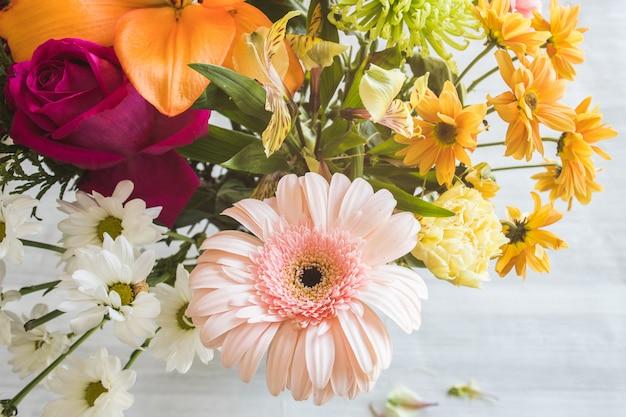 Fleurs naturelles aux couleurs vives