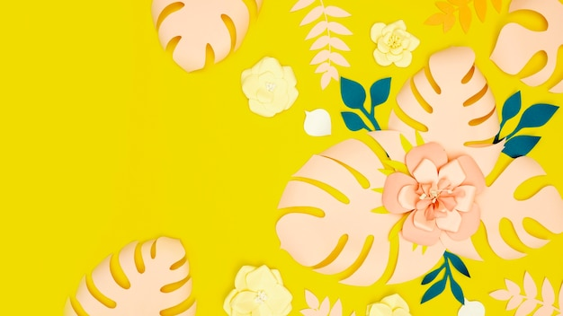 Fleurs en papier en fleurs
