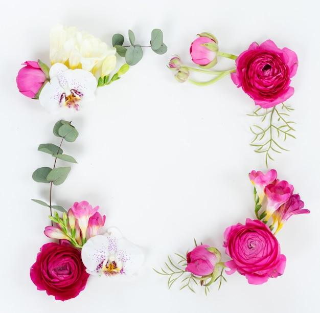 Fleurs de renoncule et orchidées