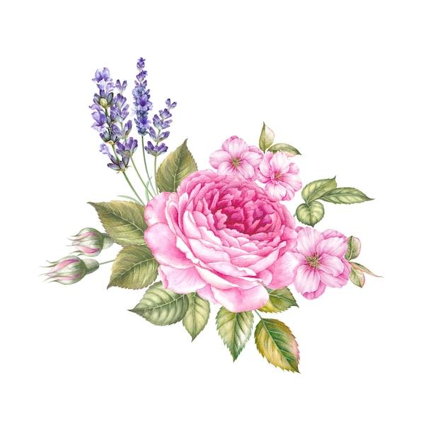 Fleurs rouges et roses isolées