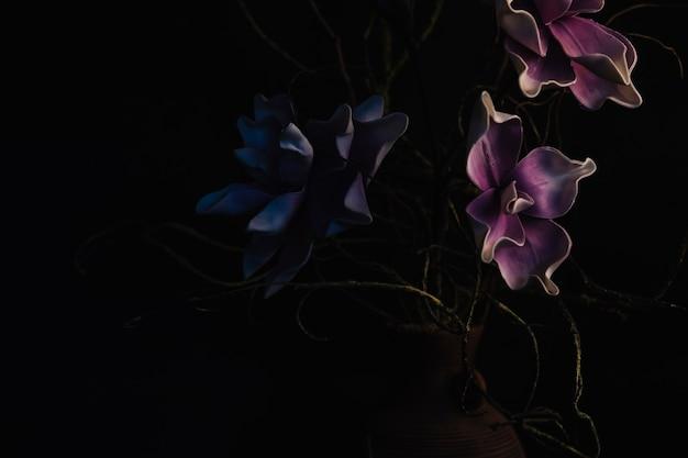 Fleurs séchées dans un vase