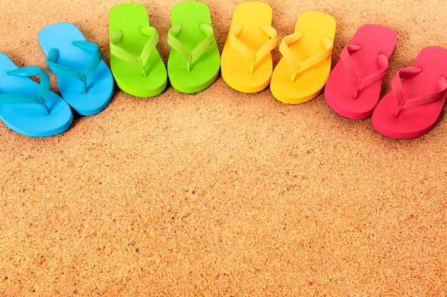 Flip flops sur la plage
