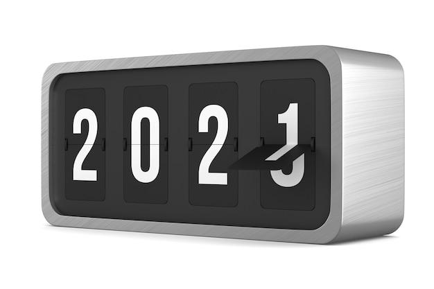 Flip tableau de bord noir 2021. rendu 3d isolé