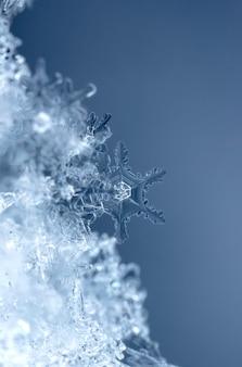 Flocon de neige dans la saison d'hiver de neige