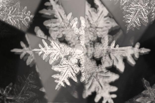 Flocon de neige avec effet kaléidoscope prisme