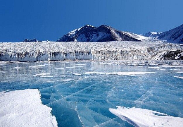 Floes pôle km au sud antarctique glace éternelle