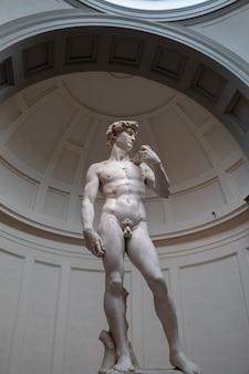Florence, italie - 24 juin 2018 : la sculpture de la renaissance est david de michel-ange, créé entre 1501 et 1504 à l'académie des beaux-arts de florence (accademia di belle arti di firenze)