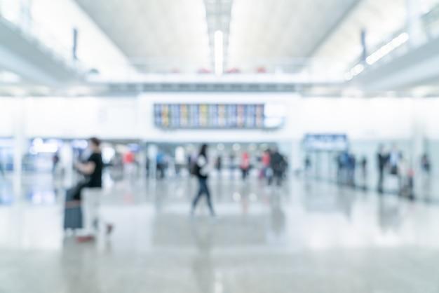 Flou abstrait et aéroport défocalisé
