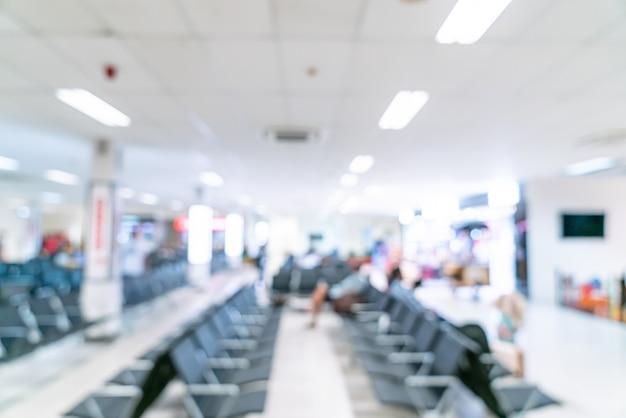 Flou abstrait à l'aéroport pour le fond
