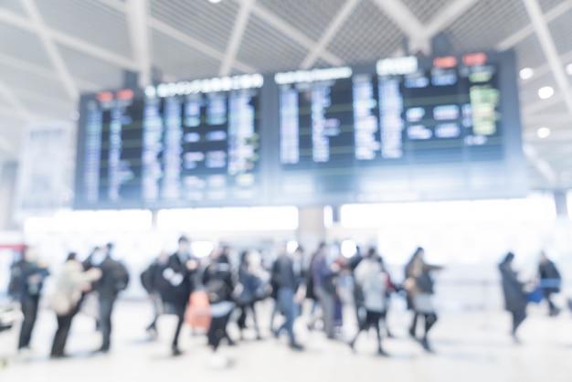Flou abstrait à l'aéroport