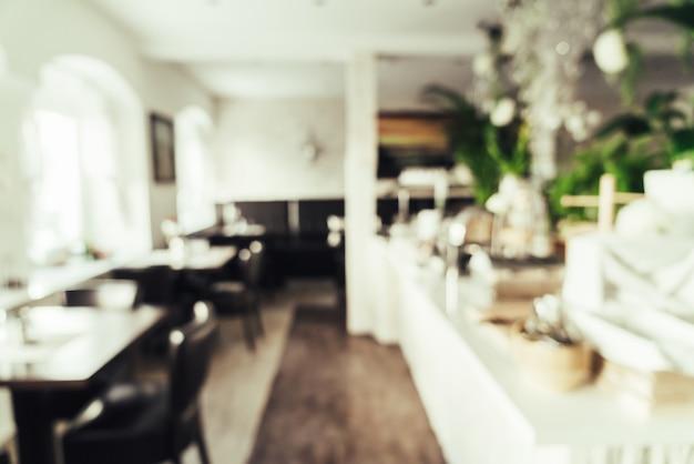 Flou abstrait au restaurant de l'hôtel