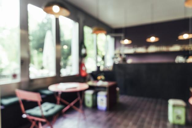 Flou abstrait au restaurant pour le fond