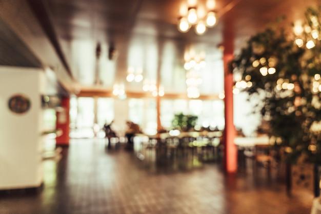 Flou abstrait au restaurant