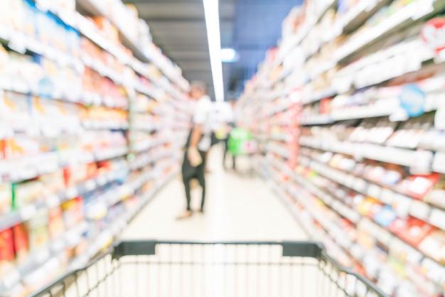 Flou abstrait au supermarché