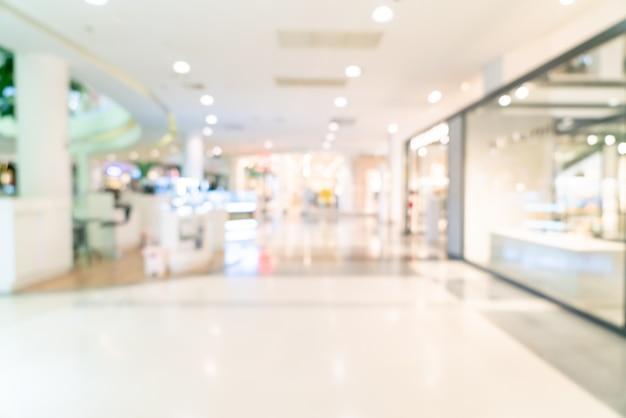 Flou Abstrait Boutique Et Magasin De Détail Dans Un Centre Commercial Pour Le Fond Photo Premium