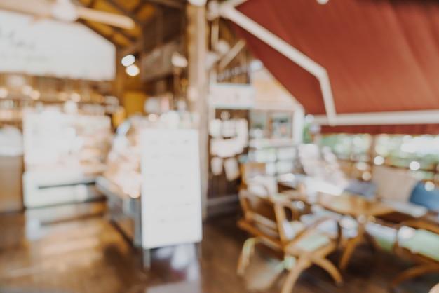 Flou abstrait café et café restaurant pour le fond