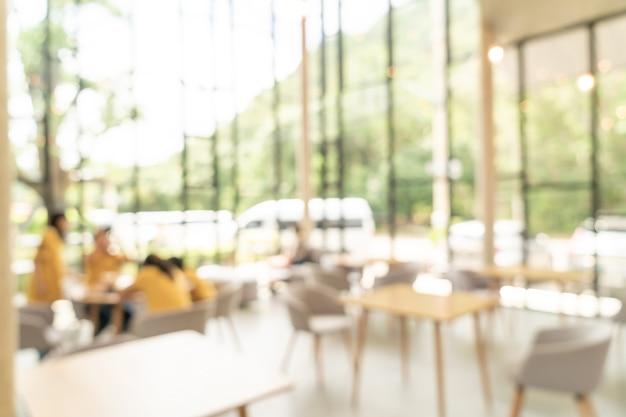 Flou abstrait et café-restaurant défocalisé