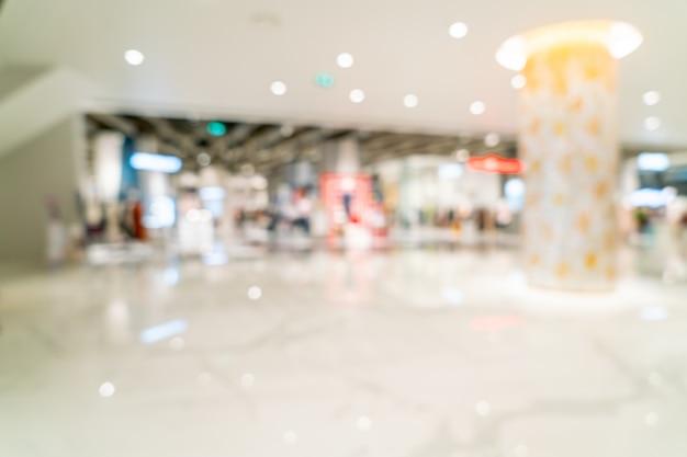 Flou abstrait et centre commercial de luxe défocalisé