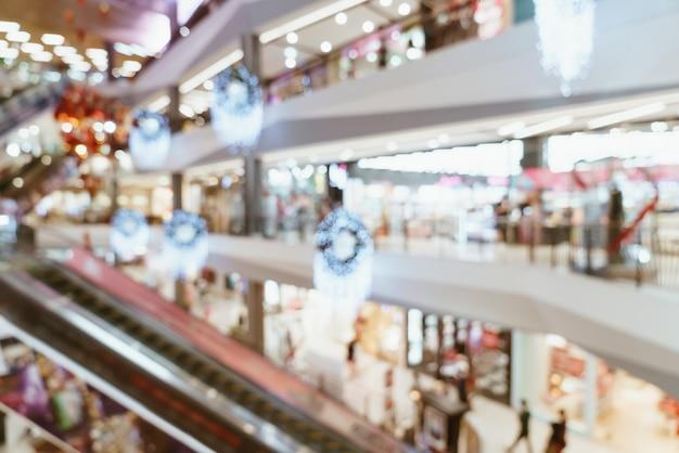 Flou abstrait centre commercial de luxe et magasin de détail