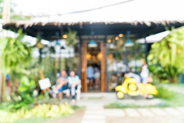 Flou abstrait dans un café
