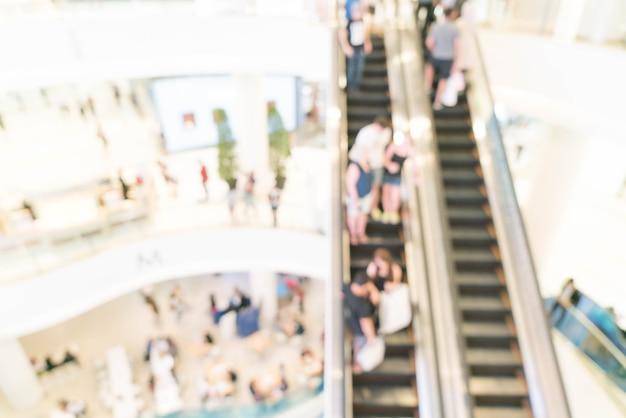 Flou abstrait dans un centre commercial de luxe et un magasin de détail