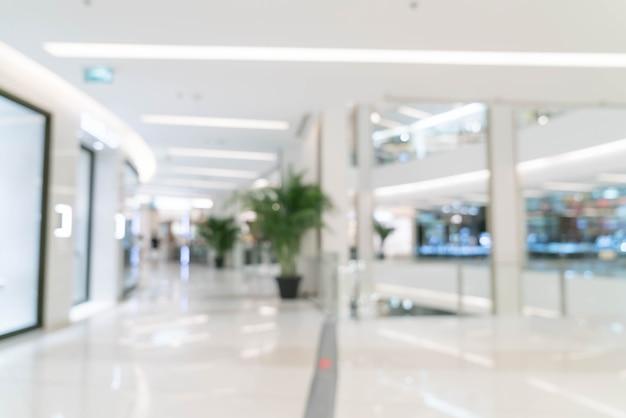Flou abstrait dans le centre commercial de luxe