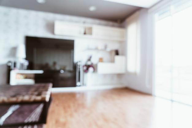 Flou abstrait dans le salon pour le fond