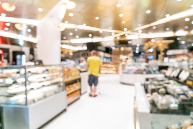 Flou abstrait dans un supermarché