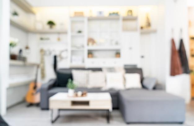 Flou abstrait et décoration intérieure défocalisée du salon