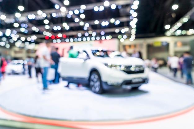 Flou abstrait et défocalisation de l'exposition automobile et automobile