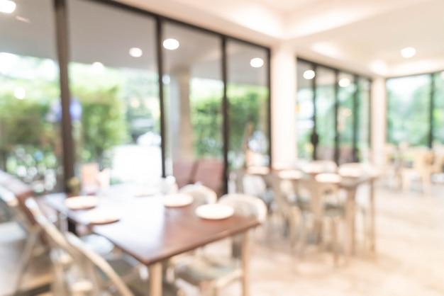 Flou abstrait et défocalisé au restaurant