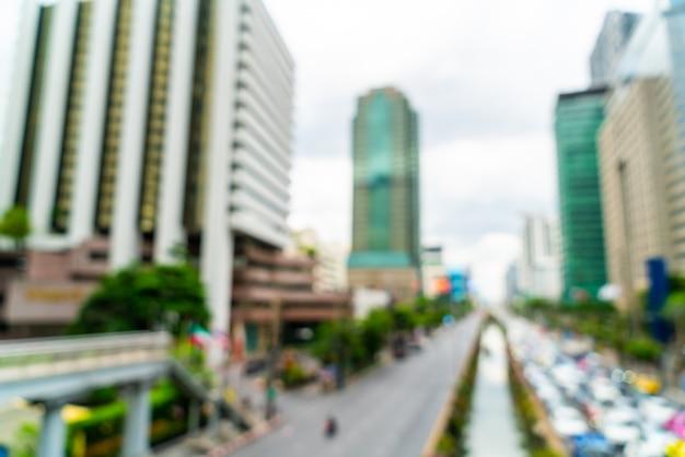 Flou abstrait et défocalisé bangkok city en thaïlande pour le fond