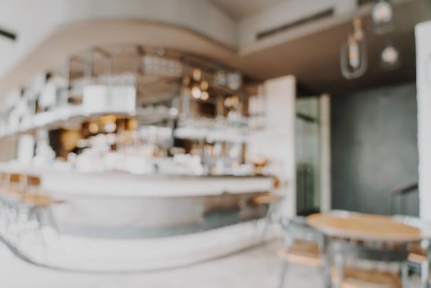 Flou abstrait et défocalisé dans un restaurant et un café pour le fond