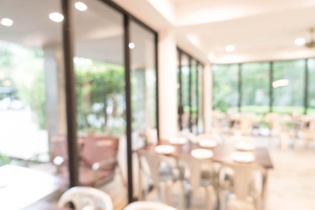 Flou abstrait et flou au restaurant