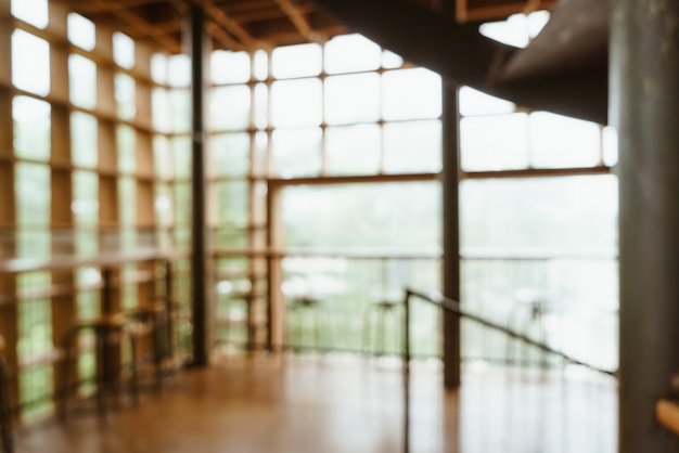 Flou abstrait et flou dans les cafés et restaurants