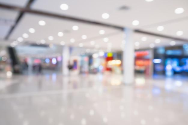 Flou abstrait fond intérieur du centre commercial défocalisé