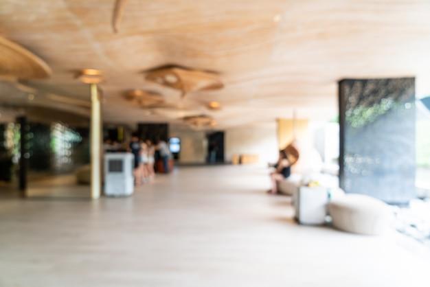 Flou abstrait et hall flou dans l'hôtel-complexe