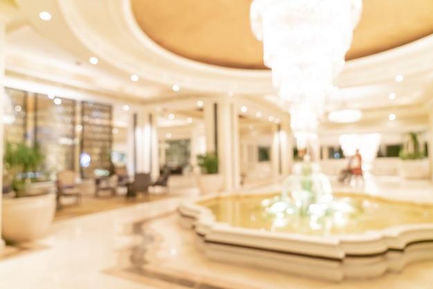 Flou abstrait et hall d'hôtel de luxe défocalisé pour