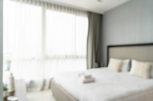 Flou abstrait et intérieur de la chambre défocalisé
