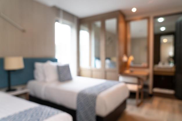 Flou abstrait intérieur de chambre d'hôtel de luxe magnifique pour le fond