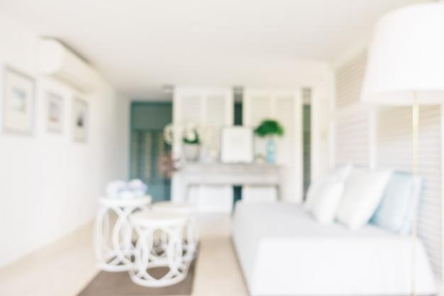 Flou abstrait et intérieur défocalisé du salon