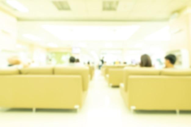 Flou abstrait intérieur de l'hôpital et de la clinique médicale.