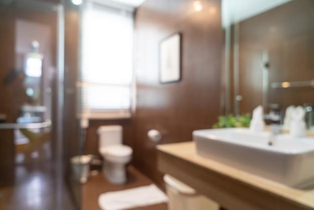 Flou abstrait intérieur de salle de bains bel hôtel de luxe pour le fond