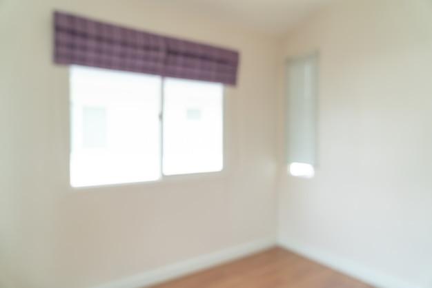 Flou abstrait pièce vide dans une maison pour le fond