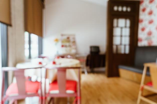 Flou abstrait et restaurant défocalisé pour le fond - filtre d'effet vintage