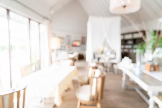 Flou abstrait et restaurant d'hôtel défocalisé pour le fond