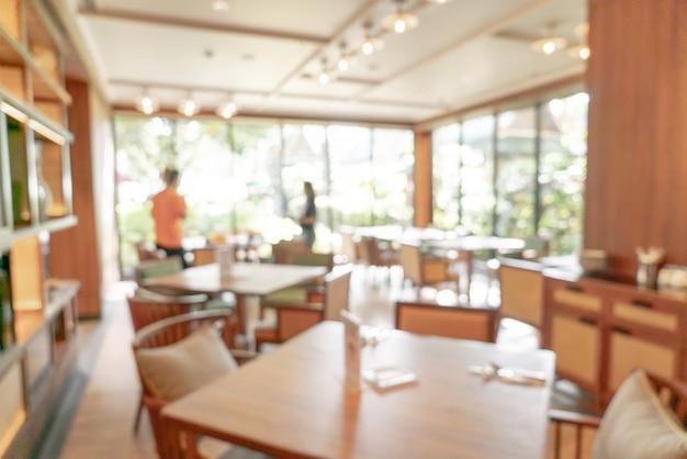 Flou abstrait et restaurant de l'hôtel défocalisé pour le fond