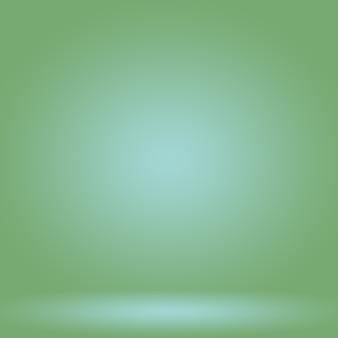 Flou abstrait studio dégradé vert vide bien utilisé comme arrière-plan, modèle de site web, cadre, rapport d'activité