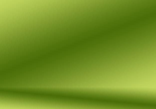 Flou abstrait studio dégradé vert vide bien utilisé comme arrière-plan, modèle de site web, cadre, rapport d'activité.