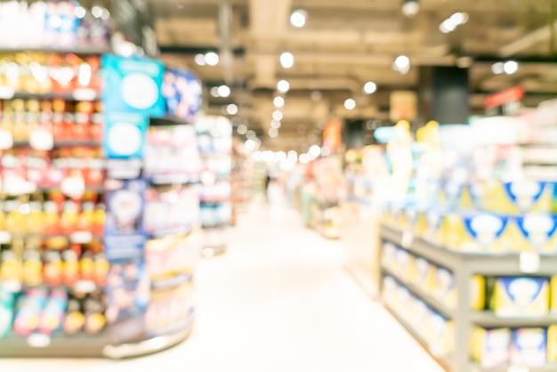 Flou abstrait et supermarché défocalisé pour
